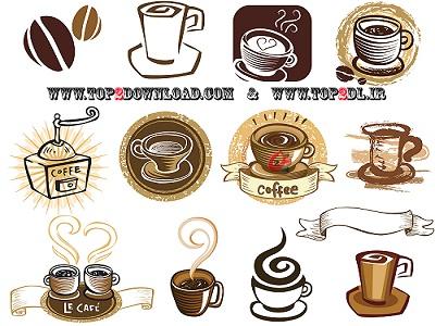 وکتور های جدید و زیبا از قهوه