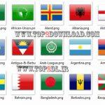 مجموعه ۲۸۳ آیکون از پرچم کشورهای دنیا