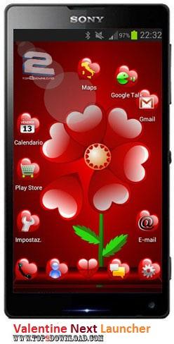 Valentine Next Launcher v1.0
