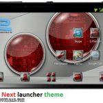 دانلود تم Techred Next launcher theme v1.0 برای اندروید