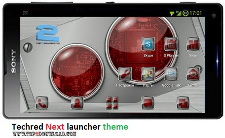 Techred Next launcher theme v1.0