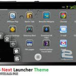 دانلود تم iPhone5 Next Launcher Theme v1.0 برای اندروید