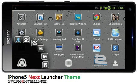 iPhone5 Next Launcher Theme v1.0