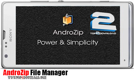 AndroZip File Manager   تاپ 2 دانلود