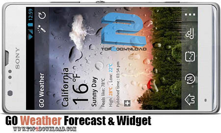 GO Weather Forecast And Widget | تاپ 2 دانلود