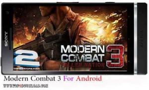 Modern Combat 3 v1.1.2   تاپ 2 دانلود