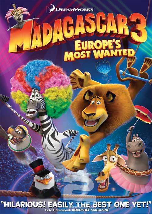 دانلود دوبله فارسی انیمیشن Madagascar 3 Europes Most Wanted 2012 | تاپ 2 دانلود