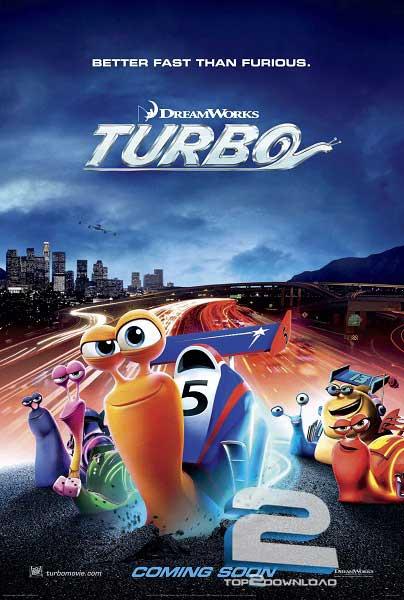 دانلود دوبله فارسی انیمیشن Turbo 2013 | تاپ 2 دانلود