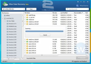 Wise Data Recovery   تاپ 2 دانلود