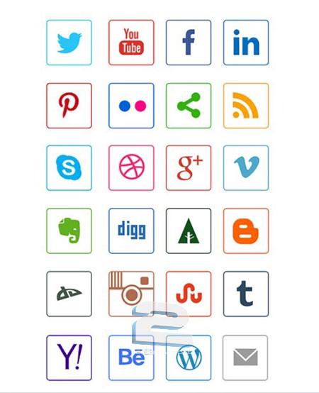 Social Media Line Icons   تاپ 2 دانلود
