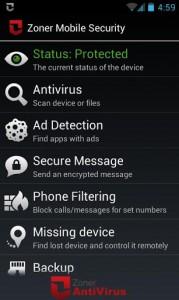 دانلود آنتی ویروس Zoner Mobile Security v1.2.0 برای اندروید | تاپ 2 دانلود