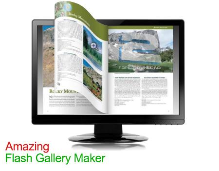 دانلود نرم افزار ساخت اسلاید شو فلش Amazing Flash Gallery Maker 1.7.1