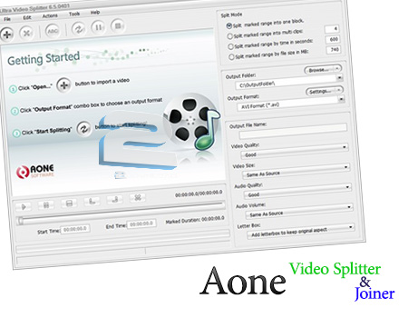 Aone Video Splitter & Joiner Suite | تاپ 2 دانلود