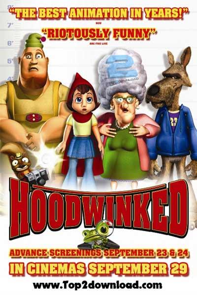 دانلود دوبله فارسی انیمیشن شنل قرمزی Hoodwinked | تاپ 2 دانلود