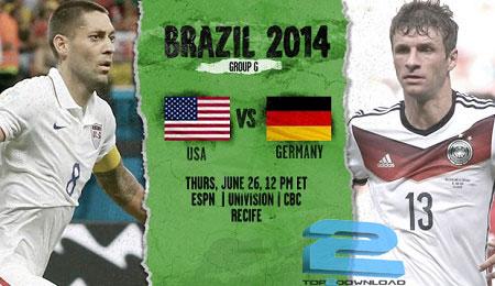 Usa vs Germany world cup 2014 | تاپ2دانلود