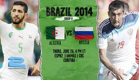 Russia vs Algeria world cup 2014 | تاپ2دانلود