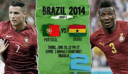 Ghana vs Portugal world cup 2014 | تاپ2دانلود