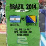 دانلود بازی آرژانتین و بوسنی Argentina vs Bosnia World Cup 2014
