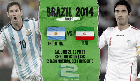 Argentina vs Iran World Cup 2014 | تاپ 2 دانلود