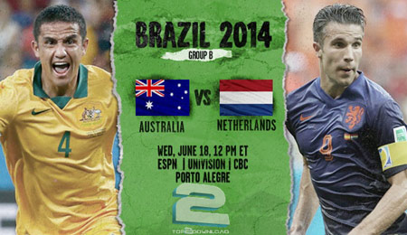 Australia vs Netherlands World Cup 2014 | تاپ 2 دانلود
