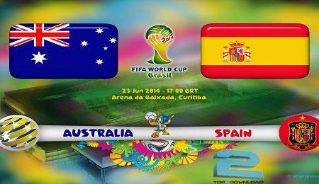 spain vs australia world cup 2014   تاپ2دانلود