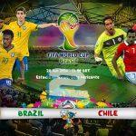 دانلود بازی برزیل و شیلی Brazil vs Chile World Cup 2014