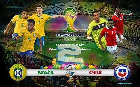 Brazil vs Chile World Cup 2014   تاپ 2 دانلود