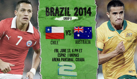 Chile vs Australia World Cup 2014 | تاپ 2 دانلود