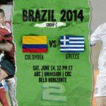 دانلود بازی کلمبیا و یونان Colombia vs Greece World Cup 2014