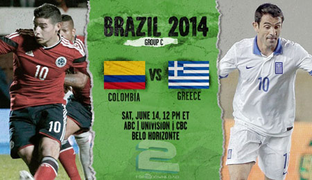 Colombia vs Greece World Cup 2014 | تاپ 2 دانلود