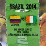 دانلود بازی کلمبیا و ساحل عاج Colombia vs Ivory Coast World Cup 2014