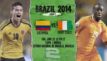 Colombia vs Ivory Coast World Cup 2014 | تاپ 2 دانلود