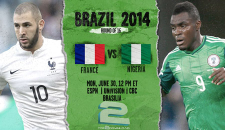 France vs Nigeria World Cup 2014   تاپ 2 دانلود