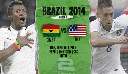 Ghana vs United States World Cup 2014 | تاپ 2 دانلود