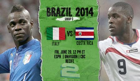 Italy vs Costa Rica World Cup 2014 | تاپ 2 دانلود
