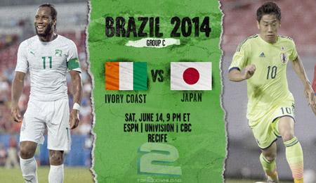 Ivory Coast vs Japan World Cup 2014 | تاپ 2 دانلود