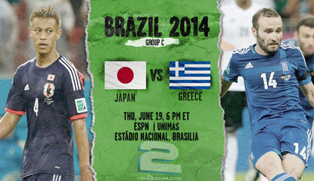 Japan vs Greece World Cup 2014 | تاپ 2 دانلود
