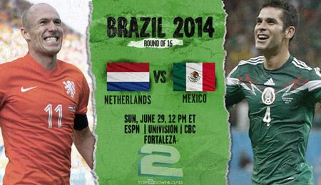 Netherlands vs Mexico World Cup 2014   تاپ 2 دانلود