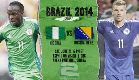 Nigeria vs Bosnia World Cup 2014 | تاپ 2 دانلود