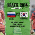 دانلود بازی روسیه و کره جنوبی Russia vs South Korea World Cup 2014
