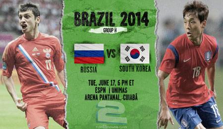 Russia vs South Korea World Cup 2014 | تاپ 2 دانلود