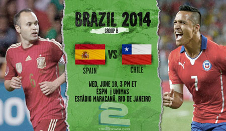 Spain vs Chile World Cup 2014 | تاپ 2 دانلود