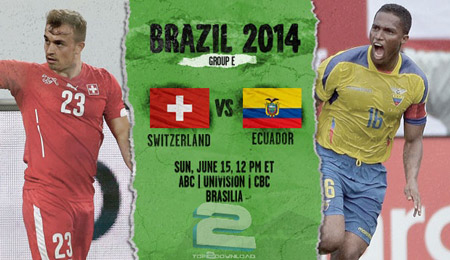 Switzerland vs Ecuador World Cup 2014 | تاپ 2 دانلود