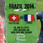 دانلود بازی سوئیس و فرانسه Switzerland vs France World Cup 2014