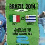 دانلود بازی اروگوئه و ایتالیا uruguay vs italy world cup 2014