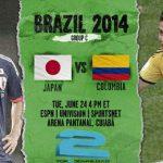 دانلود بازی کلمبیا و ژاپن  Japan v. Colombia world cup 2014