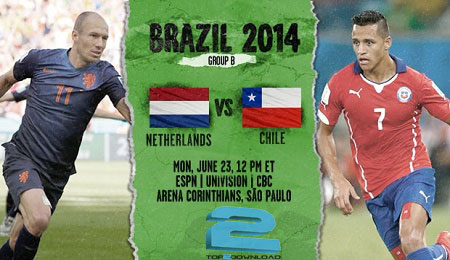 Netherlands vs.Chile world cup | تاپ2دانلود