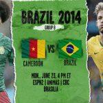 دانلود بازی کامرون و برزیل cameroon vs brazil world cup 2014