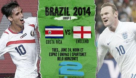 england vs costa rica WORLD CUP 2014   تاپ2دانلود