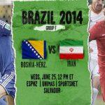 دانلود بازی ایران و بوسنی bosnia vs iran world cup 2014